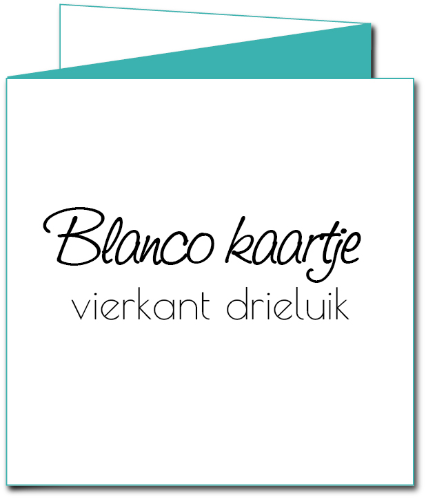 Blanco kaart drieluik