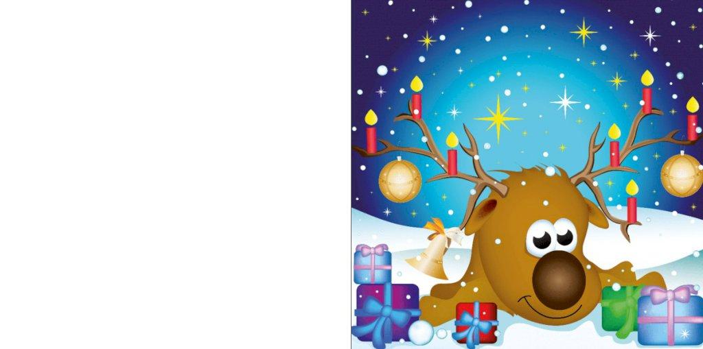 Schattige Ree met kerstlampjes