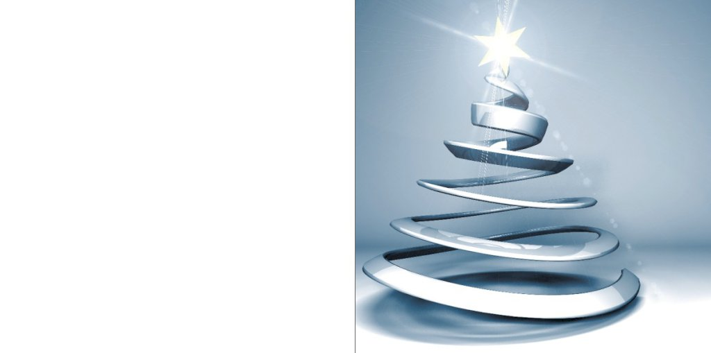 Moderne zilveren kerstboom met ster